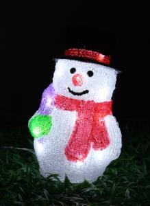 Christmas 3D Motif Light Acrylic Snowman