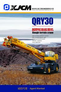 Rough terrain crane QRY30t