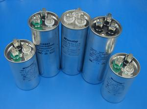 motor running capacitor round with metal case