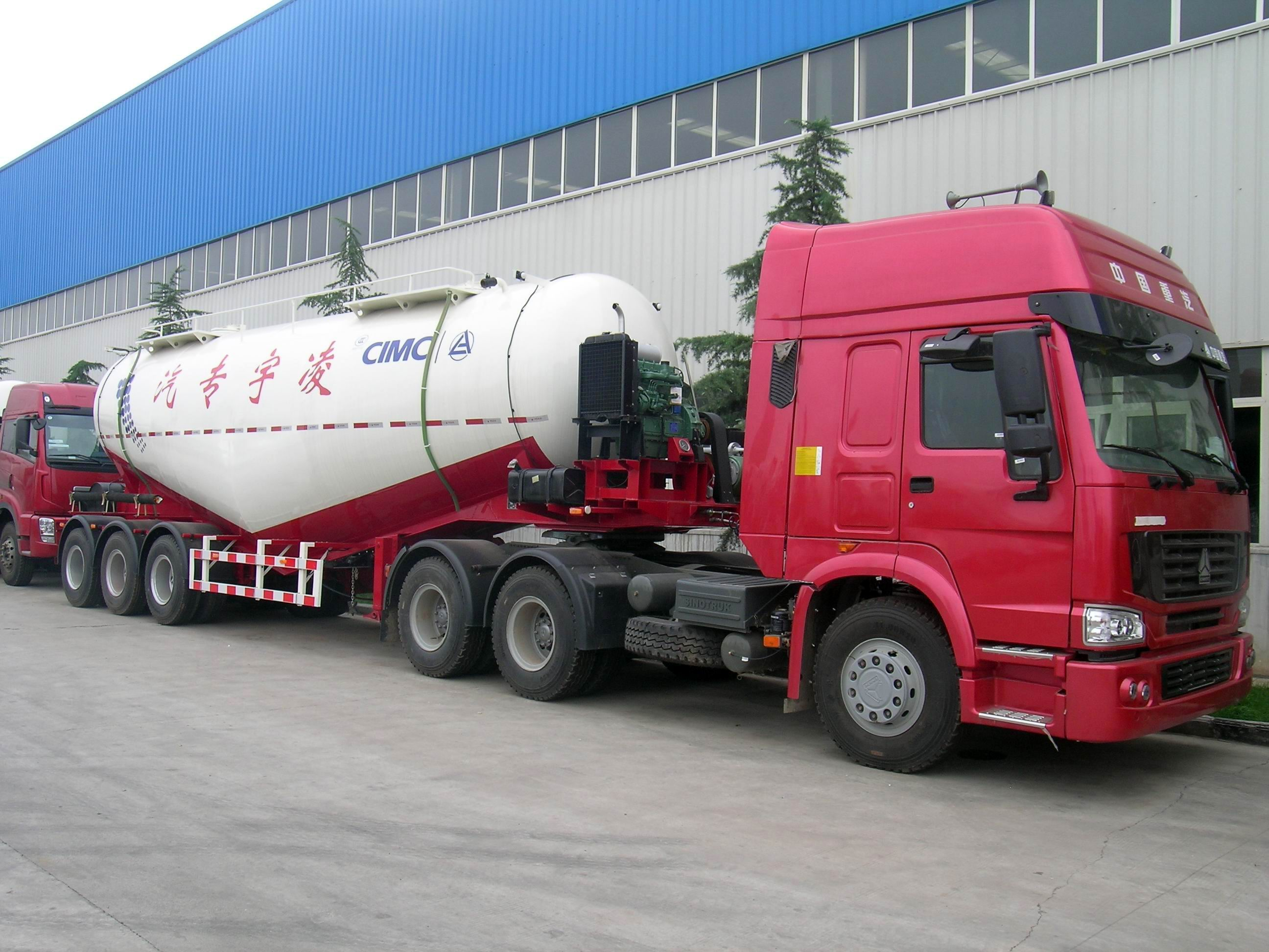 CIMC LINYU 35m3 cement semi trailer