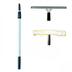 Telescopic aluminum mop handle
