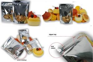 Metalized Stand Up Packing Bag With Bottom Gusset For Packing