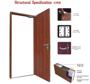 Wooden Fireproof Door Manufactory with Good Quality