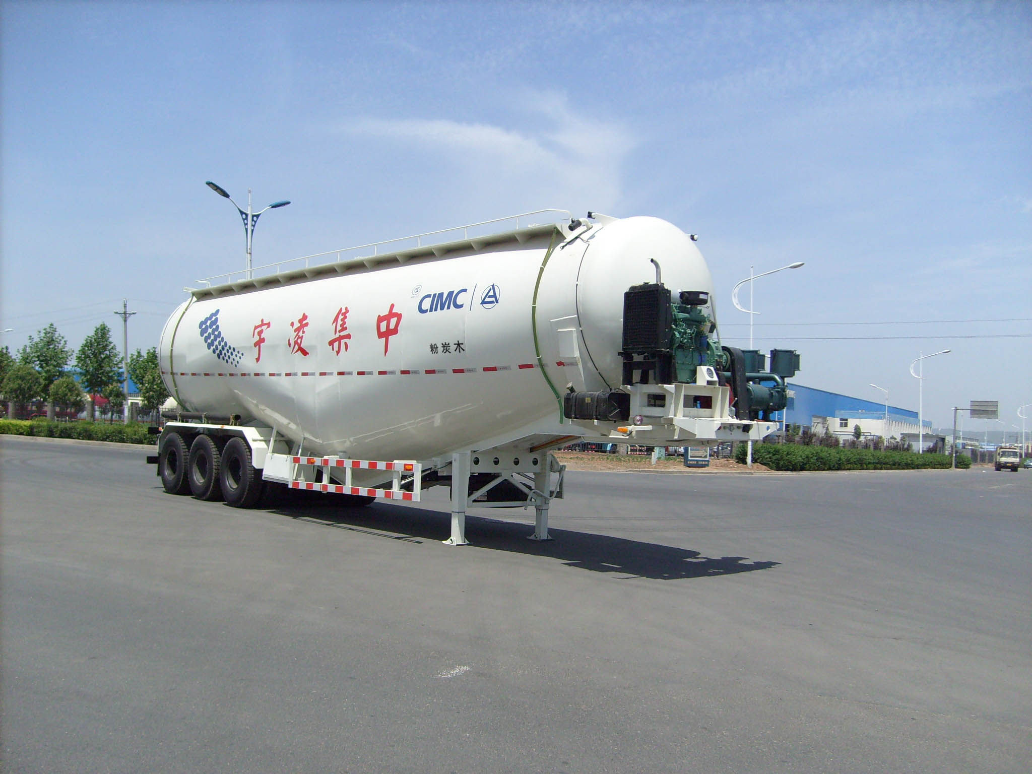 Cement Tanker Semi Trailer with 60 Cubic Meters