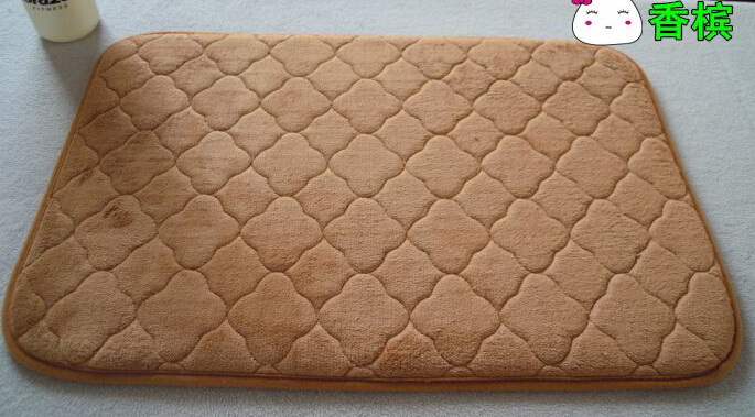 soft fleece door mat