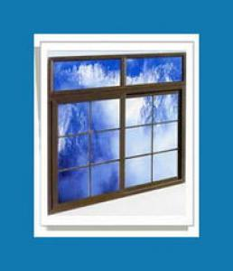 PVC Outward Open Casement Window with PVC shutter 60 Series
