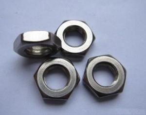 DIN439 Unchamfered Hexagon Thin Nut