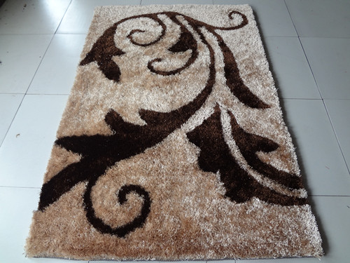 High Pile And Low Pile Hand Made  Floor Rug