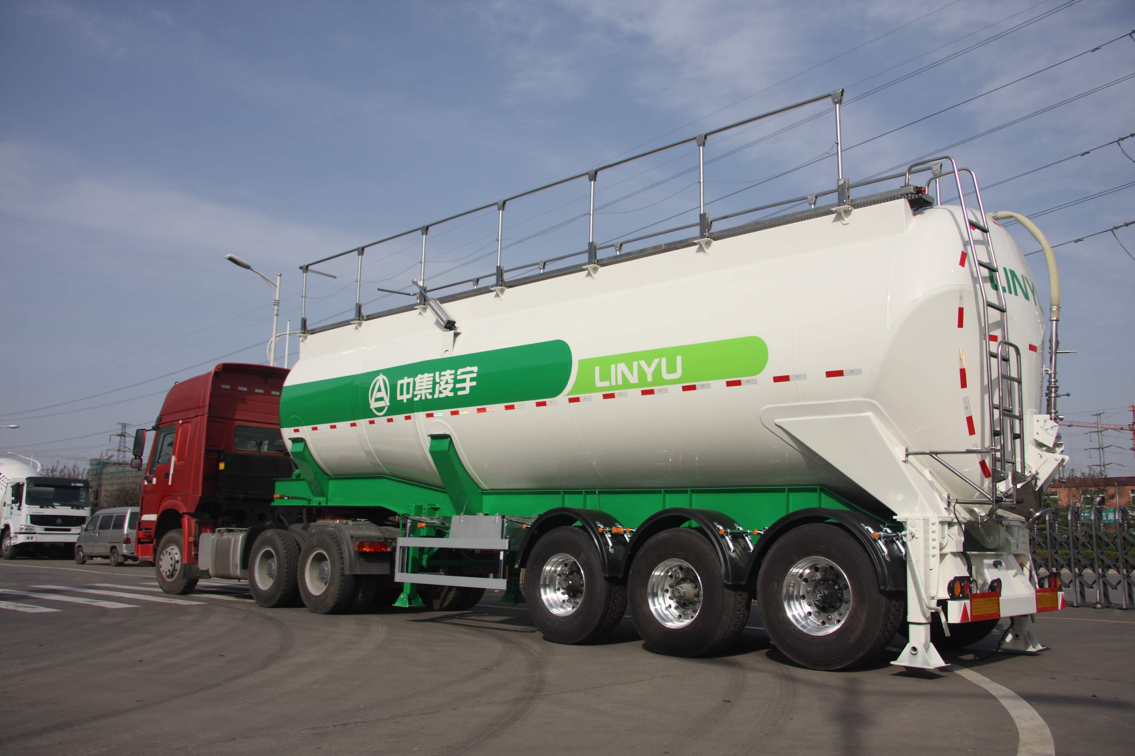 CIMC LINYU lifting tank semi trailer
