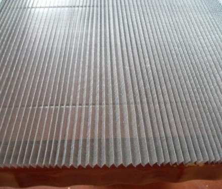Polypropylene Pleated Screen Mesh High Quality