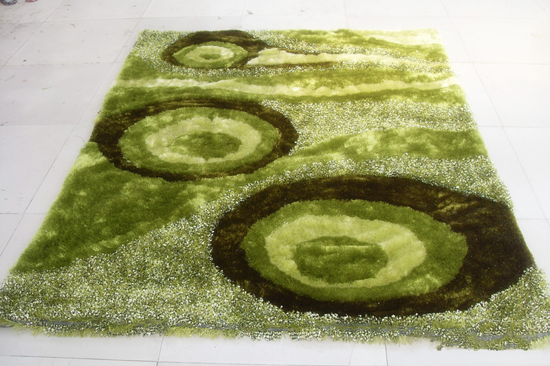 Modern Design Polyester Silk Shaggy Carpet