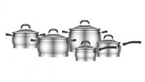 Stainless Steel Cookware 9pcs set