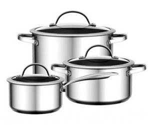 Stainless Steel Cookware 12pcs set