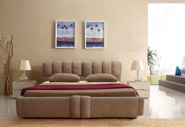 Fabric soft bed,double bed