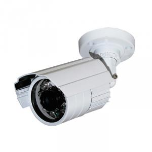 CCTV IR Waterproof Camera with 23pcs IR Leds and 20M IR Range, 3.6mm Lens and 3-Axis Cable Built in Bracket