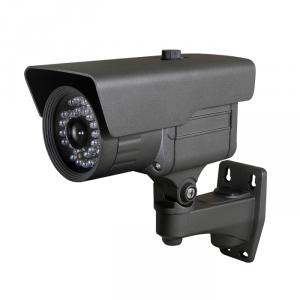 CCTV Camera IR Waterproof Fixed Camera with 23pcs IR Leds and  20M IR Range, 3.6mm Lens and 3 Axis Cable Built in Bracket
