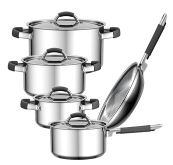 Stainless Steel Cookware with soft touch handle