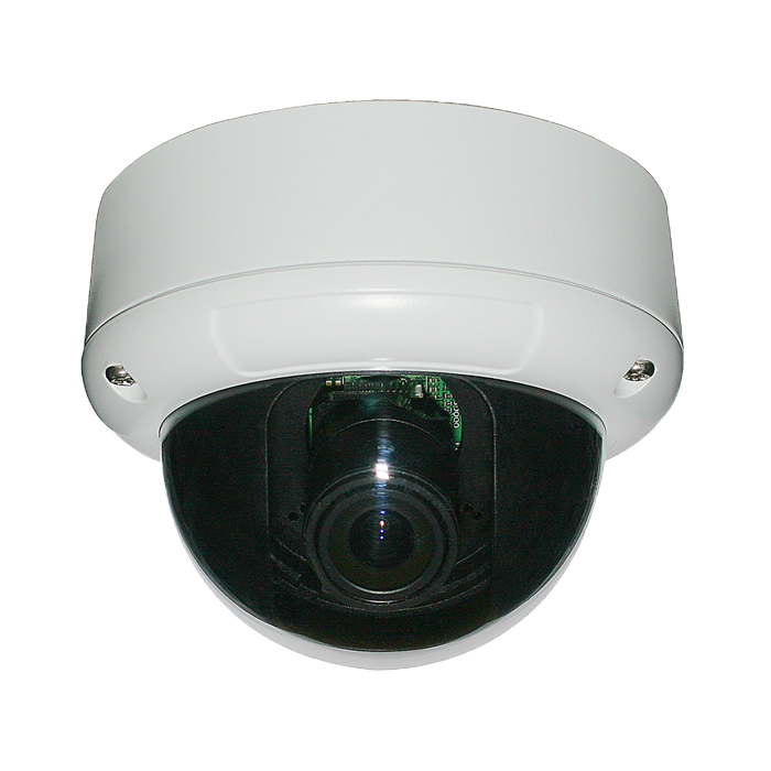 CCTV Camera Metal Dome Camera with 2.8-12mm Manual Varifocal Lens and Built-in 3-Axis Bracket
