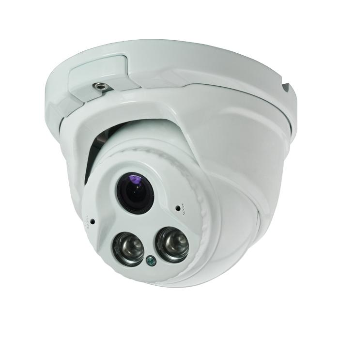 CCTV Camera Metal Dome Camera with 2pcs Array IR CMOS, CCD Optional