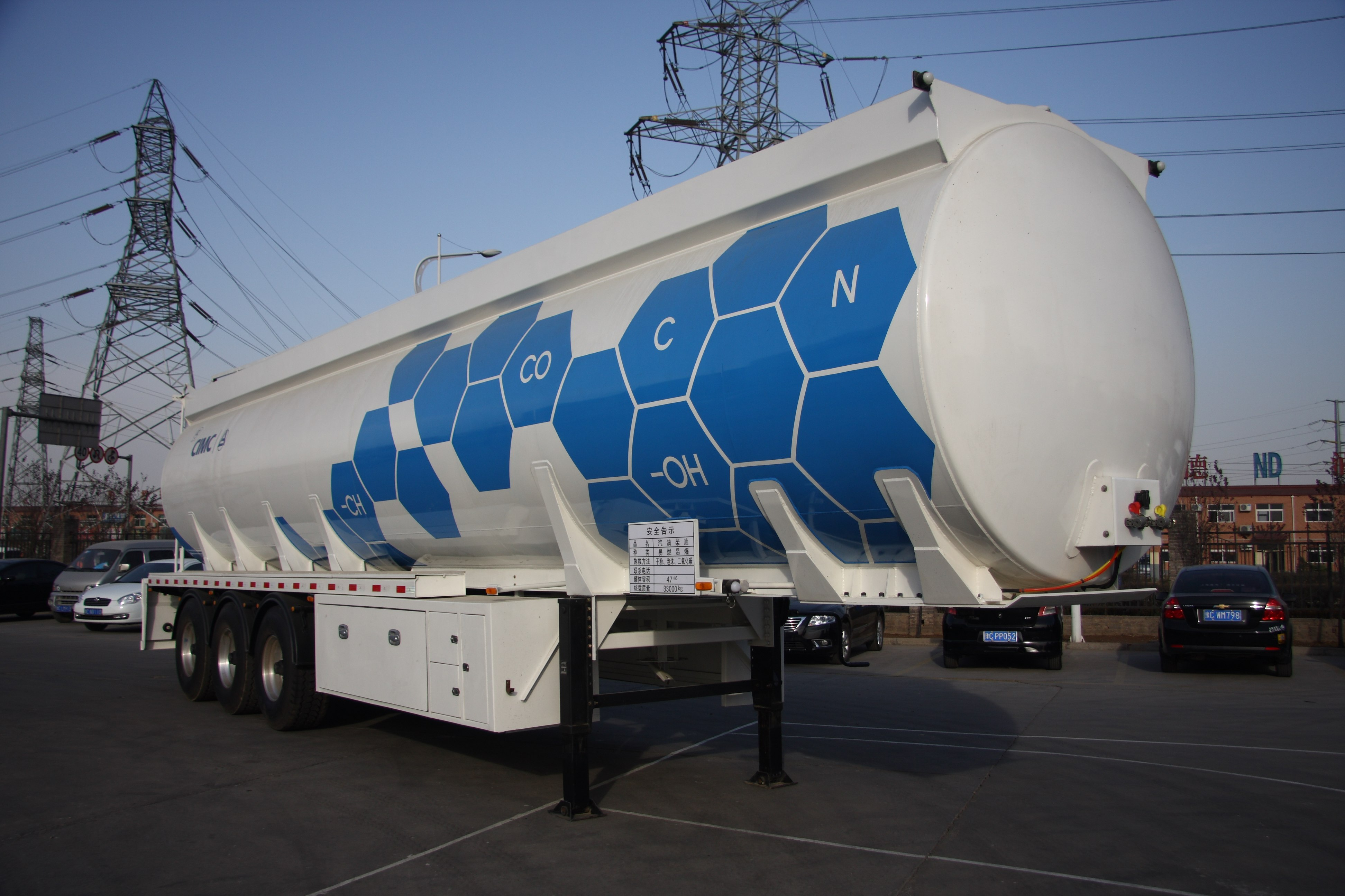 aluminum alloy fuel tank semi trailer
