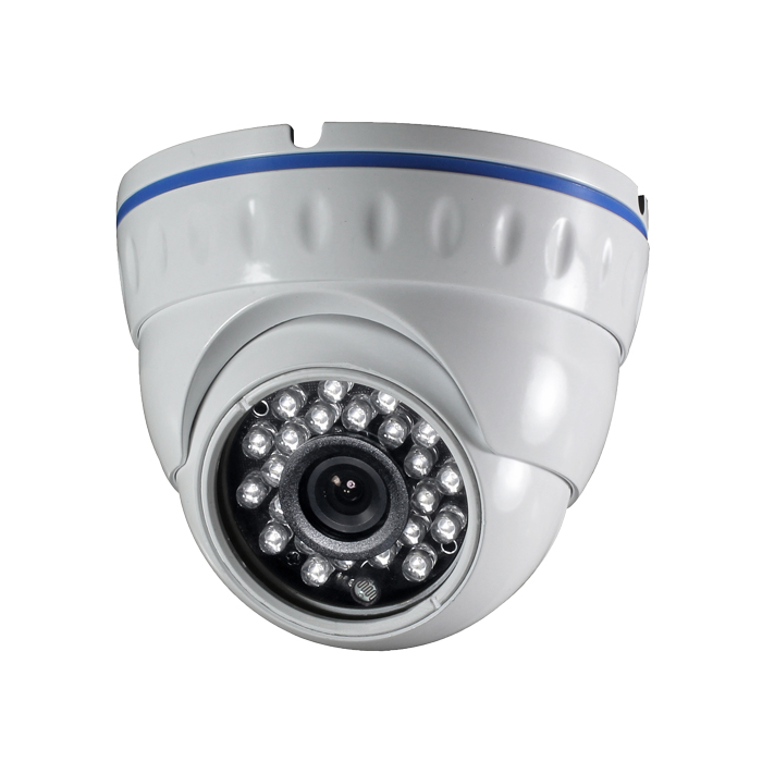 CCTV Camera Metal Dome Camera with 23pcs IR Leds Sony, Sharp CCD
