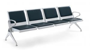 WNACS-FOUR SETAS METAL POWDER PAINTED AIRPORT WATIING CHAIR WITH PVC OR PU CUSHION