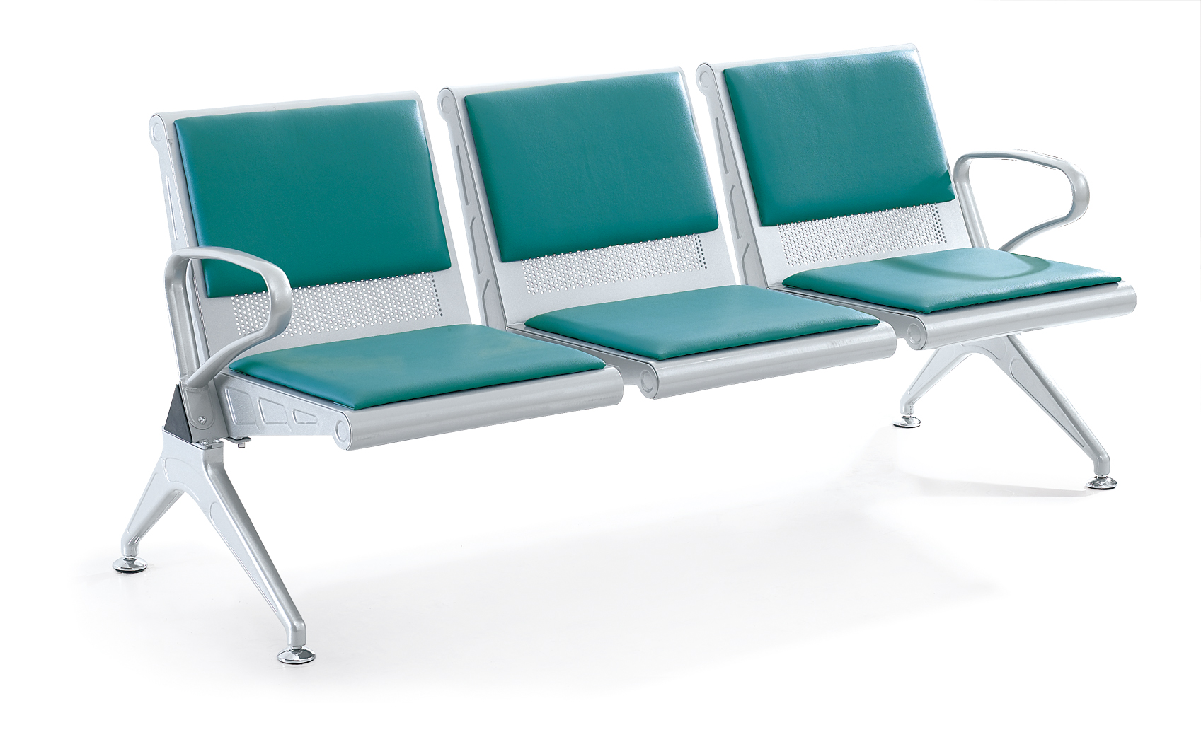 WNACS-THREE SETAS METAL POWDER PAINTED AIRPORT WATIING CHAIR WITH PVC OR PU CUSHION