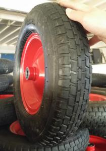China Manufacturer 4.00-8 3.50-8 Wheelbarrow Rubber Wheel