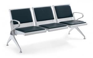 WNACS-THREE SETAS METAL POWDER PAINTED AIRPORT WATIING CHAIR WITH PVC OR PU CUSHION