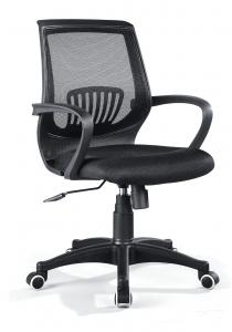 Swivel Office Chair with Black Armrest and Black mesh Backrest