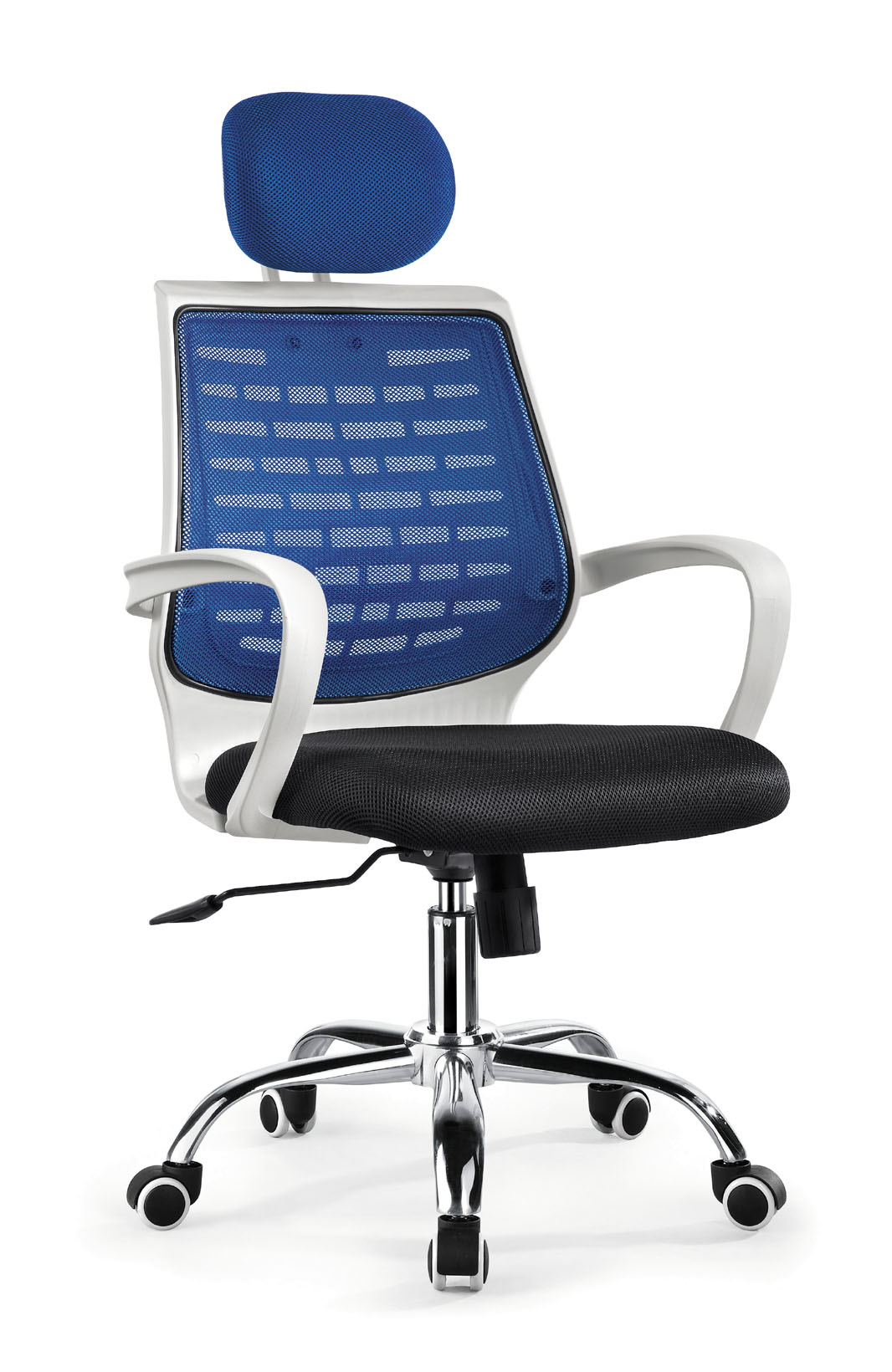 ZHNSMC-07P Neck Support Swivel Office Chair with Mesh Surface and Trapezoid Backrest