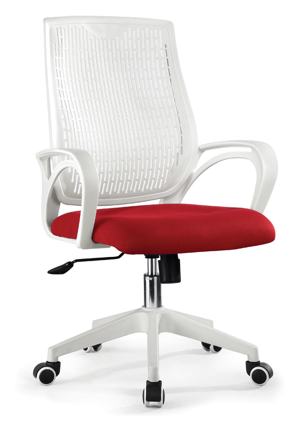 ZHSMC-03 Swivel Office Chair with White Armrest Mesh Backrest