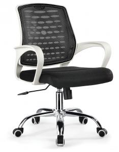 ZHSMC-05P Swivel Office Chair Plastic Armrest and Silver Base
