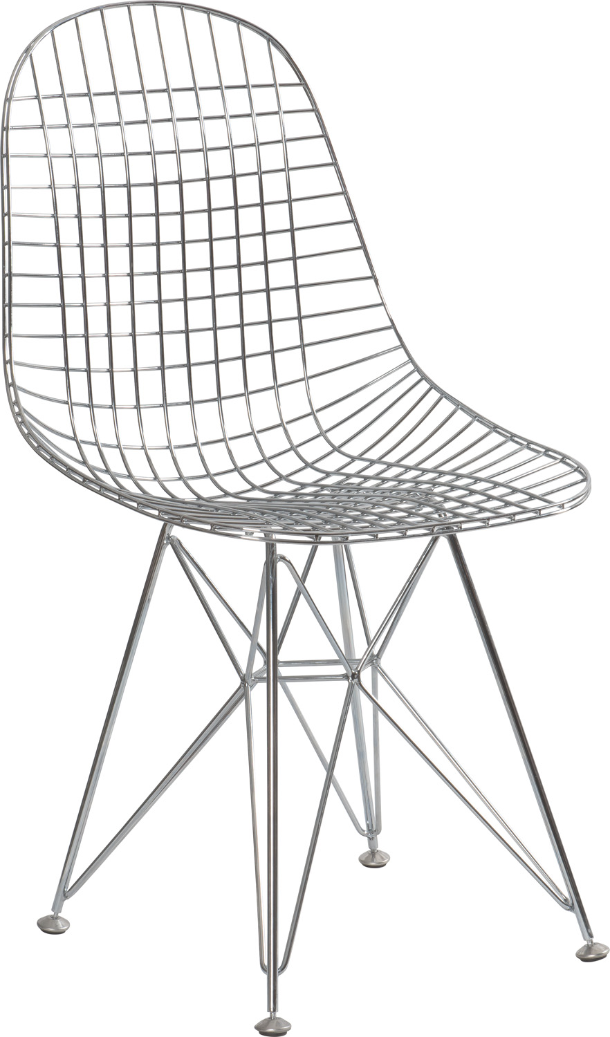 JSWMC-04  Triangle High Backrest and Round Seat Wired Metal Leisure Chair Without Armrest