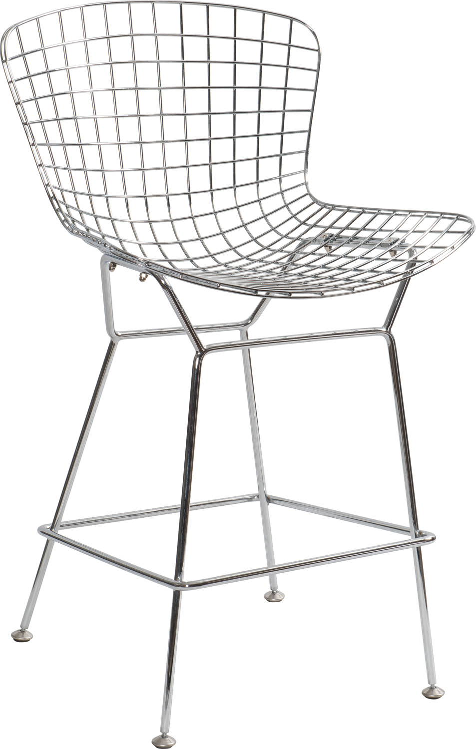 JSWMC-03A Low Back and Medium-heeled Wired Metal Leisure Chair Without Armrest