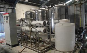 eight thousand Pure Water Produce Line With Double Stage RO System Project in Zambia