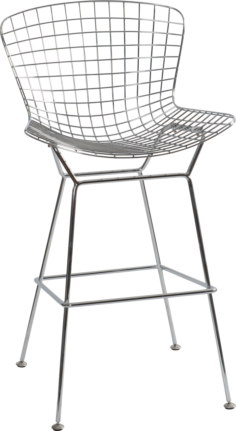 JSWMC-03 Low Back and High-heeled  Wired Metal Leisure Chair Without Armrest