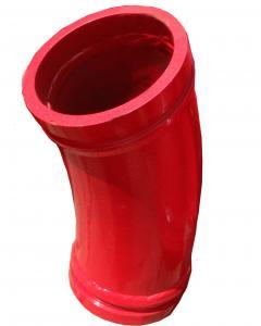 Concrete Pump Truck Parts Elbow Bend DN125 R180 90DGR 148MM Mn13-4 Casting