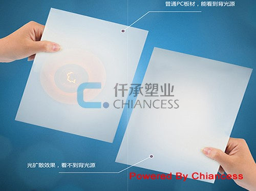 Advertising polycarbonate sheet