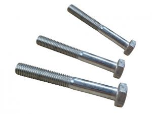 Hex Bolts DIN931 GR4.8 Zink Coating Best Price and High Quality