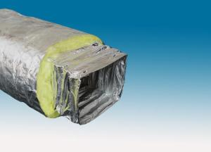Single-ply aluminum foil insulated rectangle air duct