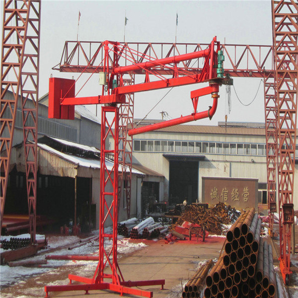 Electric Concrete Placing Boom With Pipes