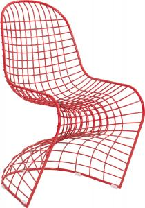JSWMC-06  S Shape Wired Metal Leisure Chair