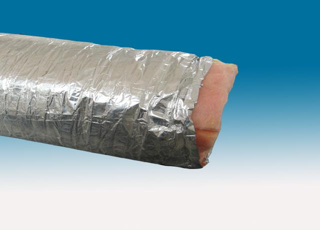 Red scrim single-ply aluminum foil insulated air duct