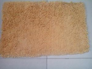 Red Yellow Chenille Microfiber Carpet