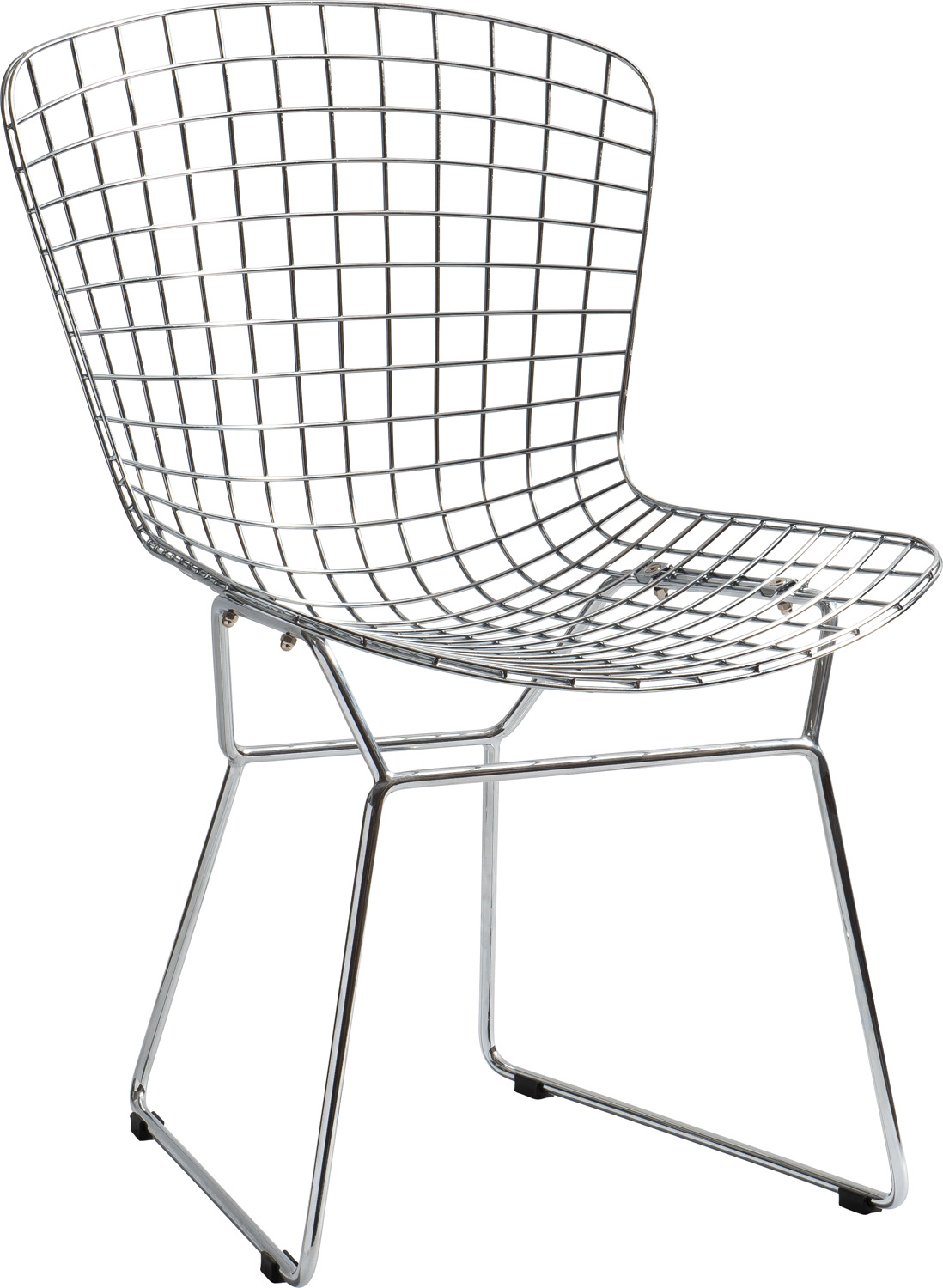 JSWMC-02  Reversed Trapezoid Wired Metal Leisure Chair Without Armrest