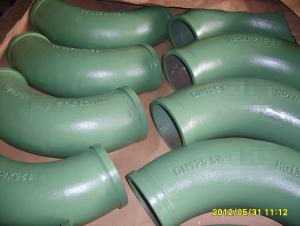 Concrete Pump Truck Parts Elbow Bend R281 DN120 142Flange 90DGR Casting