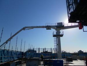 Self-Climbing Type Concrete Placing Boom 24M With 4 R-Stage