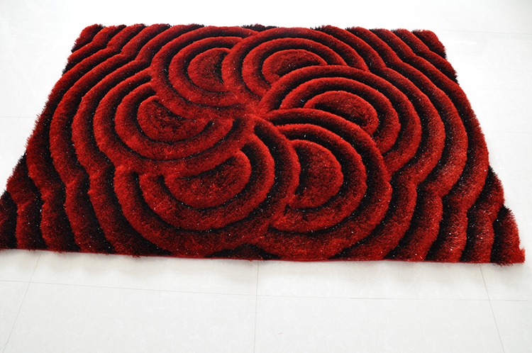 Luxury Polyester Shaggy  Carpet  with Fashion 3D Design