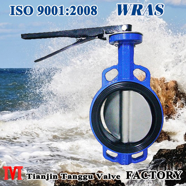 rubber lined wafer butterfly Valve with vulcanized seat